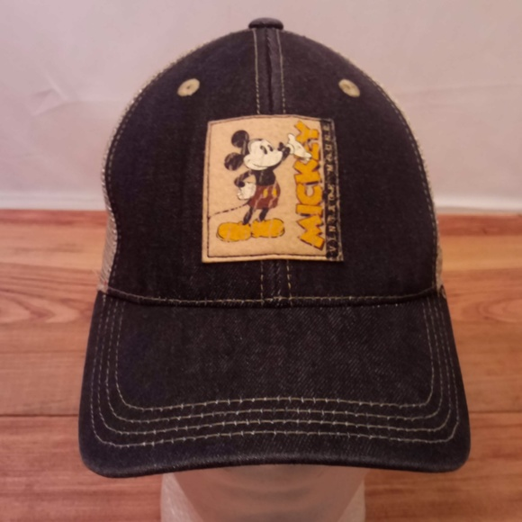 d1824ad3 Disney Accessories | Distressed Mickey Mouse Fitted Hat Ml | Poshmark